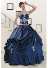 In Stock Sweetheart Quinceanera Gowns with Appliques
