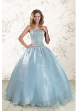 New Style Cheap Beading Sweet 15 Dresses with Strapless