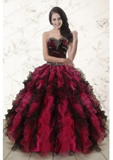 Cheap Multi Color 2015 Quinceanera Dresses with Sweetheart