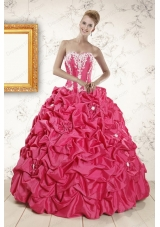 Cheap Sweetheart Ball Gown Beading Quinceanera Dresses for 2015