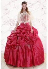 Most Popular Strapless Appliques Quinceanera gowns
