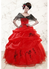 New Style  Sweetheart Red Quinceanera Dresses for 2015