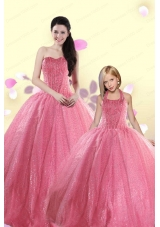 Simple Sweetheart Sequins Princesita Dress in Rose Pink For 2015