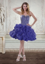 Fashionable Sweetheart Beaded 2015 Prom Dresses with Ruffles