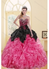 2015 Fashionable Beading and Ruffles Sweet 16 Dresses in Multi Color