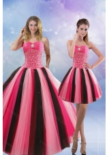 Beautiful 2015 Beading Sweet Sixteen Dresses in Multi Color