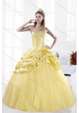 Most Popular Strapless Beading Sweet Sixteen Dresses for 2015