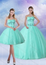 Perfect Apple Green Quince Dress with Appliques and Beading