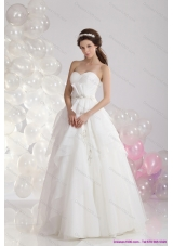 2015 Top Selling Sweetheart Wedding Dress with Paillette and Ruching
