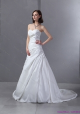 Top Selling 2015 Sweetheart Appliques and Ruching Wedding Dress
