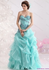 2015 Perfect Sweetheart Floor Length Quinceanera Dresses with Appliques