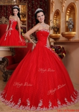 Fashionable Ball Gown Strapless Quinceanera Dresses with Appliques