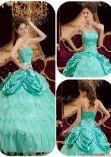 New Style Ball Gown Strapless Ruffles Quinceanera Dresses for 2016
