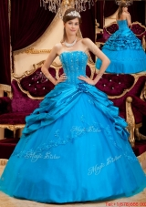 Romantic Ball Gown Strapless Floor Length Sweet Fifteen Dresses