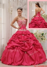 Summer Simple Ball Gown Sweetheart Appliques Quinceanera Dresses