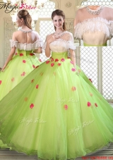 2016 Spring Beautiful Scoop Quinceanera Dresses with Ruffles