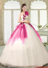Fashionable Multi Color Quinceanera Gowns with Appliques and Ruffles