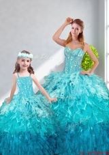 2015 Winter Beautiful Ball Gown Sweetheart Macthing Sister Dresses in Multi Color