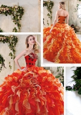 Perfect Multi Color Quinceanera Gowns with Beading and Ruffles