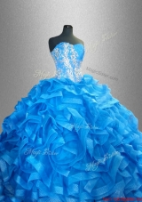 2015 Romantic Sweetheart Quinceanera Dresses with Beading and Ruffles