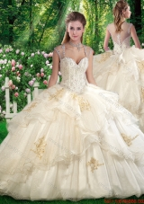 2016 Elegant Ball Gown Sweet 16 Dresses with Beading and Appliques