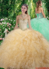 Elegant Sweetheart 2016 Quinceanera Dresses with Beading and Ruffles