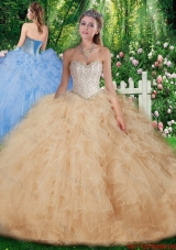 Most Popular Ball Gown Quinceanera Dresses with Beading for 2016