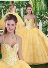 2016 Cheap Ball Gown Beading and Appliques Sweet 16 Dresses