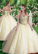 Cheap Ball Gown Sweetheart Quinceanera Dresses in Champagne