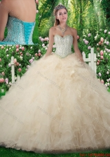 Exquisite A Line Sweetheart Sweet 16 Dresses with Beading