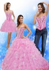 Elegant Beading and Ruffles Sweetheart 2015 Quinceanera Dresses