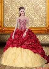 Exquisite Beading and Pick Ups Sweetheart Quinceanera Gown for 2015