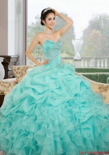 2015 Most Popular Sweetheart Quinceanera Dresses with Ruffles and Pick Ups