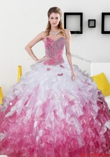 2015 Top Seller Sweetheart Quinceanera Dresses with Beading and Ruffles