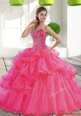 Beautiful Sweetheart 2015 Spring Quinceanera Dress with Beading