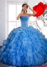Elegant Ball Gown Quinceanera Dress with Ruffles and Appliques