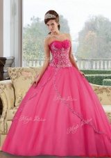Fashionable Sweetheart Floor Length 2015 Quinceanera Gown with Appliques