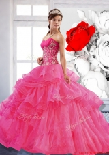Most Popular Sweetheart Ball Gown 2015 Quinceanera Dress with Appliques