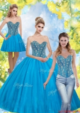 New Style Beading Sweetheart Quinceanera Dresses for 2015