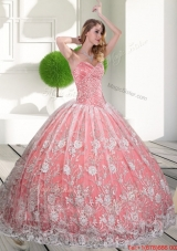New Style Sweetheart 2015 Quinceanera Gown with Beading and Lace