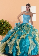 New Style Sweetheart Quinceanera Dress with Beading and Ruffles