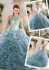 New Arrivals Halter Top Quinceanera Dresses with Appliques