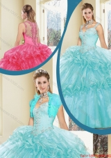 2016 Luxurious Zipper Up Quinceanera Dresses with Beading