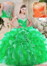 Beautiful Scoop Quinceanera Dresses with Beading and Ruffles