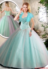 Elegant Aqua Blue Quinceanera Dresses with Beading