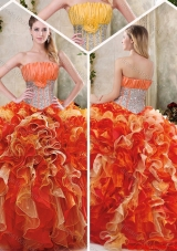 Gorgeous Multi Color Quinceanera Gowns with Sequins and Ruffles