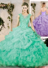 Latest Sweetheart Appliques Quinceanera Dresses with Brush Train