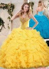 Modern Sweetheart Quinceanera Dresses with Beading and Ruffles