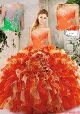 Popular Beading Sweet Sixteen Dresses in Multi Color