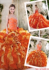 Popular Multi Color Quinceanera Dresses with Beading and Ruffles